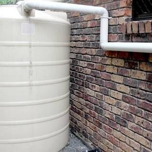 Cisterna para captação de água da chuva