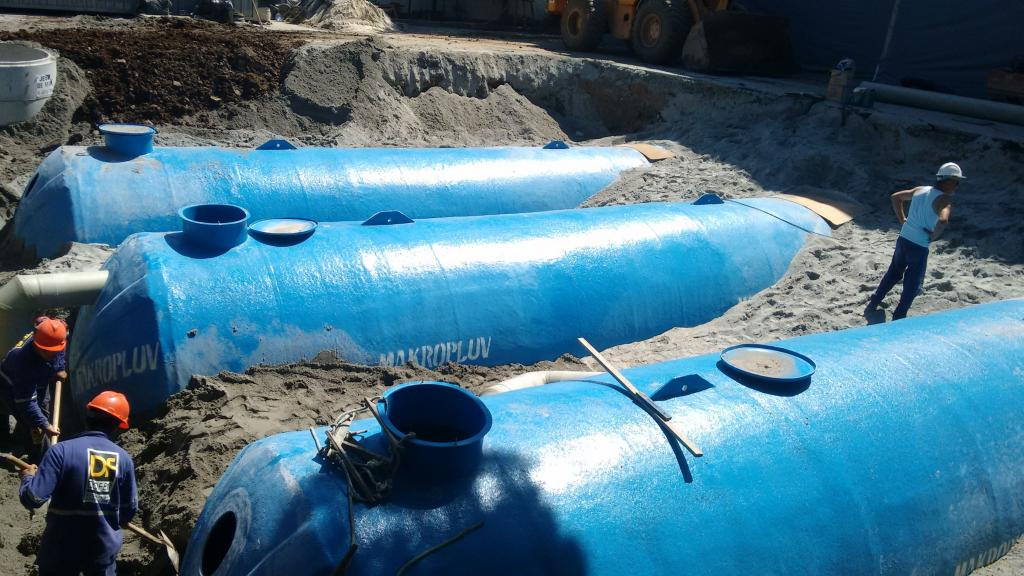 Reservatório subterrâneo para água