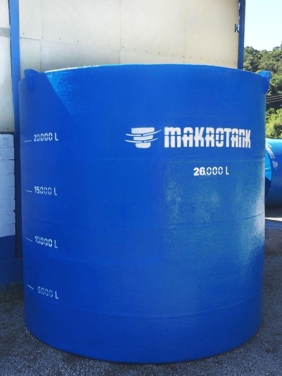Tanque de fibra de vidro para indústria agroquímica