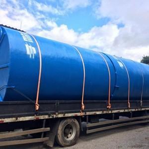 Tanque de fibra de vidro para água