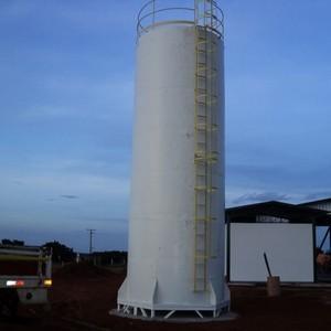 Reservatório de fibra de vidro industrial